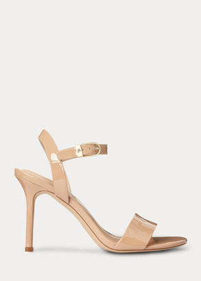Ralph Lauren Gwen Patent Leather Sandal