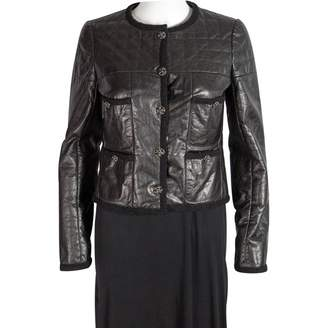 Chanel Black Leather Jackets