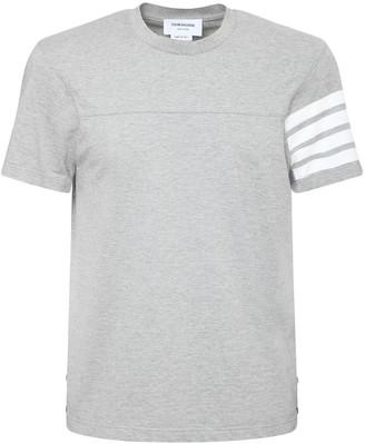 Thom Browne Cotton Jersey T-Shirt W/ 4 Bars