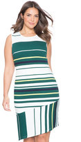 ELOQUII Plus Size Variegated Stripe Dress
