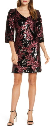 Taylor Dresses Split Sleeve Sequin Cocktail Dress