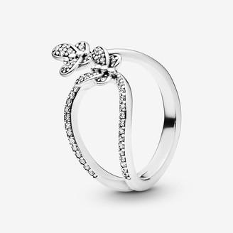 Pandora Sparkling Butterfly Open Ring