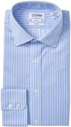 T.M.Lewin Striped Twill Slim Fit Dress Shirt