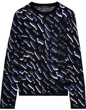 Derek Lam Cashmere And Silk-blend Jacquard Sweater