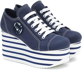 Miu Miu Cotton platform sneakers