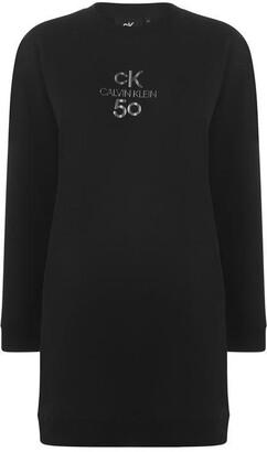 Calvin Klein Logo Crew Neck Dress