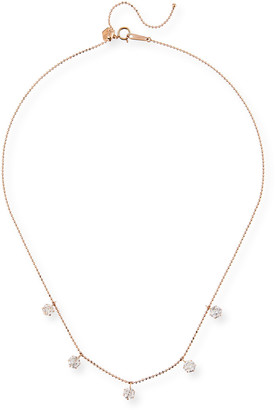 Graziela Gems 18k Rose Gold 5-Diamond Shaker Necklace