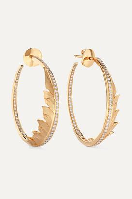 Stephen Webster + Net Sustain Magnipheasant 18-karat Gold Diamond Hoop Earrings - one size