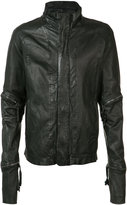 Barbara I Gongini zip detail jacket - men - Cotton/Sheep Skin/Shearling - 46