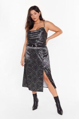 Nasty Gal One Wild Night Plus Leopard Midi Skirt