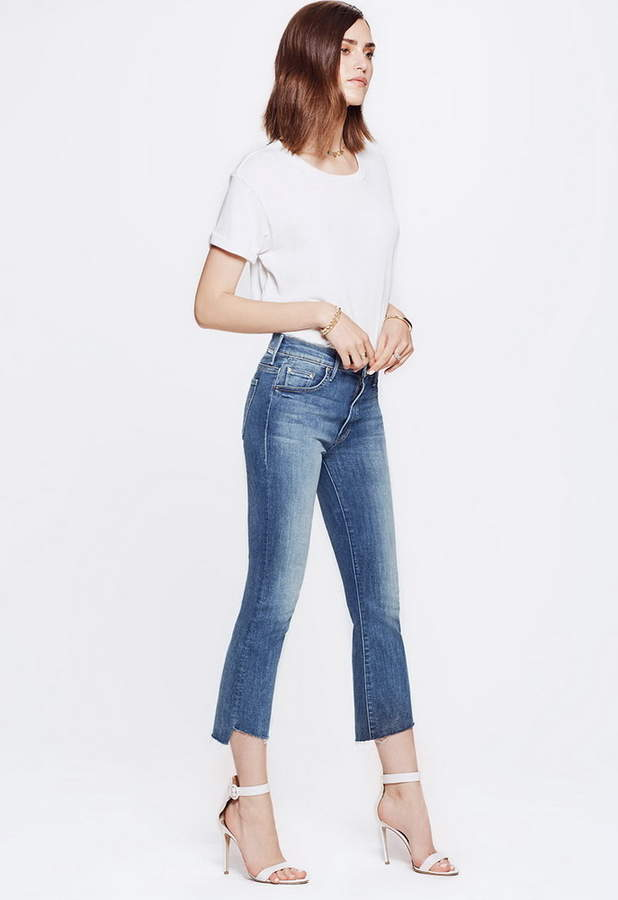 Mother The Insider Crop Step Fray Jean