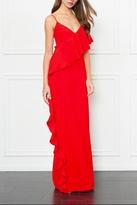 Rachel Zoe Coral Ruffle Gown