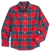 Vineyard Vines Caroler Plaid Flannel Shirt (Toddler Boys & Little Boys)