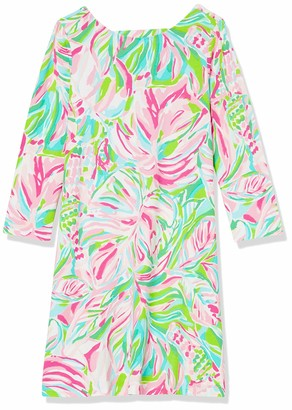 "Lilly Pulitzer Women's 19"" Swing Dress with 3/4 Length Sleeves and Lattice Strap Detail"
