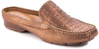 Bare Traps Baretraps BareTraps Women's Loafers BRONZE - Bronze Metallic Rhinestone Orvyn Leather Mule - Women