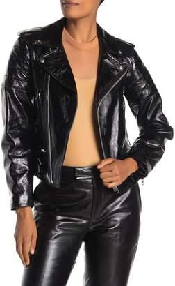 Helmut Lang Glossy Leather Biker Jacket