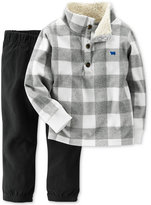 Carter's 2-Pc. Buffalo-Check Pullover & Pants Set, Baby Boys (0-24 months)