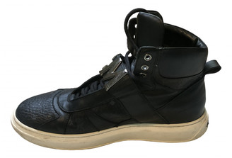 MCM Black Leather Trainers