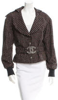 Chanel Belted Wool-Blend Jacket