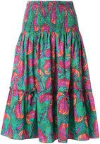 Isolda printed midi skirt