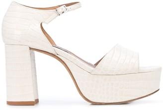 Tabitha Simmons Patton 85mm snakeskin effect sandals
