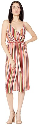BCBGeneration Cocktail Wrap Pleated Tied Knit Dress B1SX5D09 (Multi) Women's Clothing