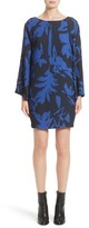 Fuzzi Women's Floral Crepe Bell Sleeve Dress