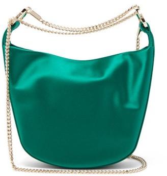 Galvan Bracelet Silk-blend Satin Clutch - Green