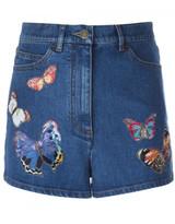 Valentino 'Camubutterfly' denim shorts