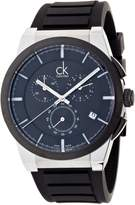 Calvin Klein Men's 'Dart' Swiss Quartz Stainless Steel and Rubber Casual Watch, Color: (Model: K2S37CD1)