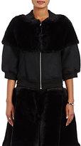 Noir Kei Ninomiya Women's Faux-Fur Bomber Jacket-BLACK