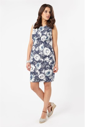 Studio 8 Tiegen Floral Denim Dress, Blue/White