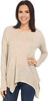 Kensie Women's Waffle Knit Long Sleeve Top