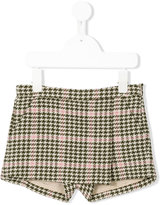 Il Gufo checked houndstooth shorts
