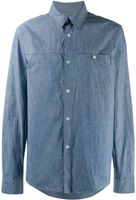 A.P.C. denim chest pocket shirt