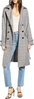 Vero Moda Nele Windowpane Plaid Trench Coat