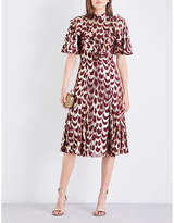 Temperley London Rider high-neck fil-coupé dress