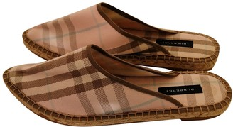 Burberry Pink Cloth Mules & Clogs