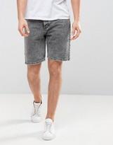 Dr. Denim Bay Denim Shorts Gray Retro Stone