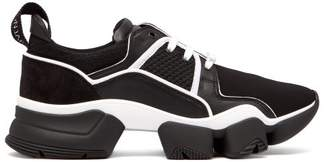 Givenchy Jaw Raised Sole Low Top Leather Trainers - Mens - Black White
