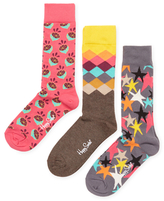 Happy Socks Lemon, Diamond & Starry Socks (3 PK)