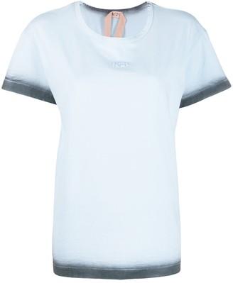 No.21 ombre trim T-shirt