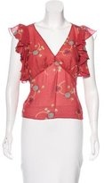 Marc Jacobs Silk Floral Top