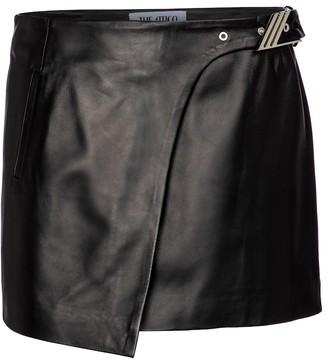 ATTICO Leather miniskirt