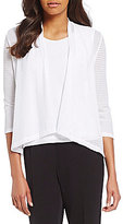 Allison Daley Petites Open Front Cardigan