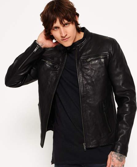 9cdbf0b26 Classic Real Hero Biker Leather Jacket