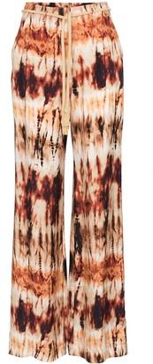 Nanushka Giado belted wide-leg trousers