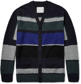 Sacai - Colour-block Cotton-bouclé Cardigan