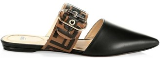 Fendi Leather Flat Mules