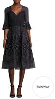 Temperley London Silk Bell Sleeve A Line Dress